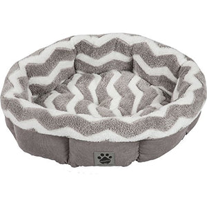 SnooZZy Hip Zig Zag Round Bed cat bed  Kaulana Pets