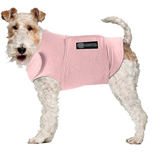 American Kennel Club Anti Anxiety and Stress Relief Calming Coat for Dogs, Extra Large, Pink - Kaulana Pets