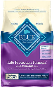 Blue Buffalo Life Protection Formula Toy Breed Dog Food – Natural Dry Dog Food for Adult Dogs – Chicken and Brown Rice – 4 lb. Bag - Kaulana Pets