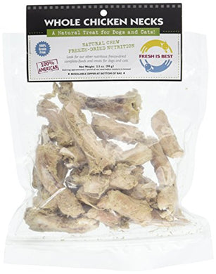 Fresh Is Best Freeze-Dried Whole Chicken Necks, Dog & Cat Treats - Kaulana Pets