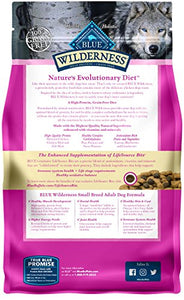 Blue Buffalo Wilderness High Protein Grain Free, Natural Adult Small Breed Dry Dog Food, Chicken 4.5-lb - Kaulana Pets