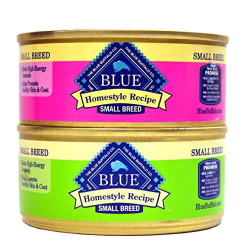 Blue Buffalo Homestyle Recipe Canned Dog Food Variety Bundle - 2 Flavors (Lamb Dinner with Garden Vegetables and Brown Rice, and Chicken Dinner with Garden Vegetable and Brown Rice) - 5.5 Ounces Each (12 Total Cans - 6 of Each Flavor) - Kaulana Pets