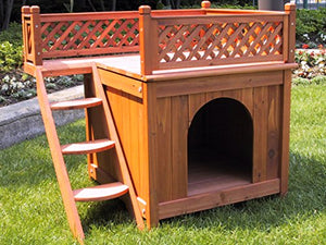 Merry Pet MPS002 Wood Room with a View Pet House - Kaulana Pets