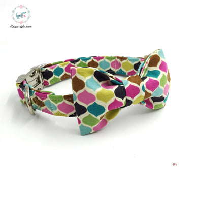 Premium Quality Designer Color Collar and Bow Tie Combo - Kaulana Pets