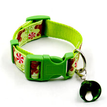 Pet Xmas Puppy Collars with Small Bell Set Christmas Dog Cat Adjustable Collar - Kaulana Pets