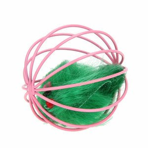 Ball Cage with Feather Mouse Toy for Cats - Kaulana Pets
