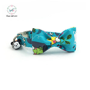 Premium Quality Frog Print Collar, Bow Tie and Leash Combo collar  Kaulana Pets