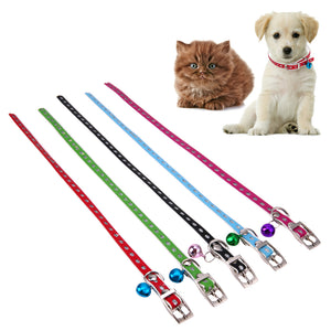 Dog Collars with Bell and Rhinestones - Kaulana Pets