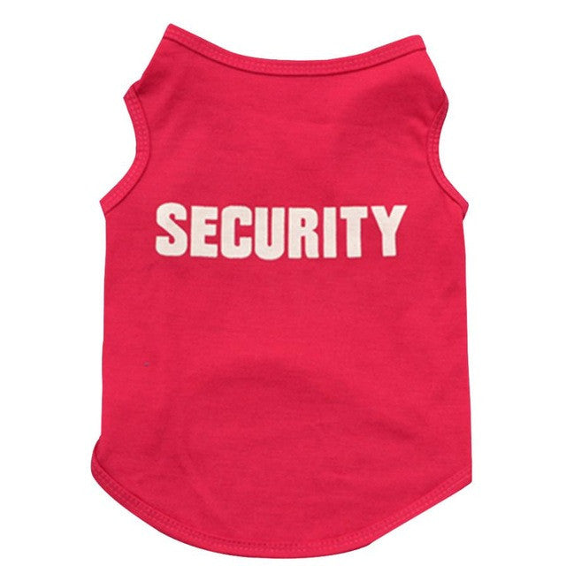 """Security"" Dog Jersey jerseys  Kaulana Pets"