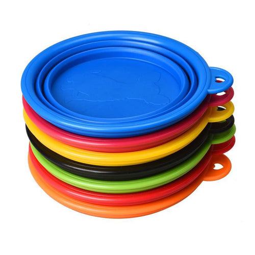 Silicone Collapsible Pet Travel Bowl bowl  Kaulana Pets