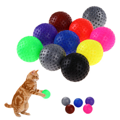 10 Pc. Plastic Cat Play Balls cat toy  Kaulana Pets
