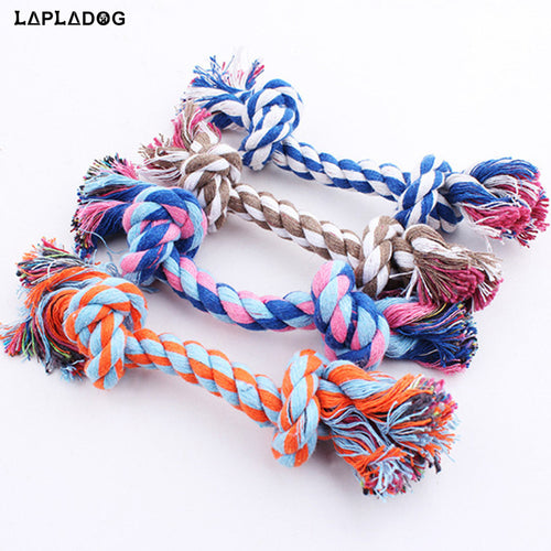LAPLADOG Pet Toy Braided Bone Colorful Dogs Interactive Toys Teeth Clean Puppy Chew Toy Tooth Molar Pets Supplies Practical Z382 - Kaulana Pets