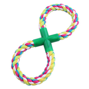 New Resistance to bite Rope Braided Dog Chew Toys Pet Cotton Rope Toys Small Dog Molar Toy Length 18CM - Kaulana Pets