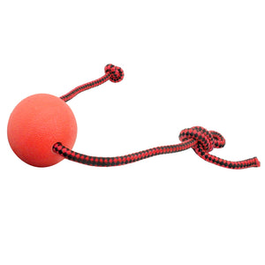 Solid Rubber Dog Chew Training Ball Toys Tooth Cleaning Chew Ball Puppy Pet Play Training Chewing Toy With Rope Handle - Kaulana Pets