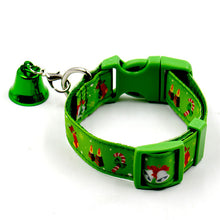 Pets Christmas Collar Nylon Reflective Small Dog Collars Night Safety Pet Leads Adjustable Colorful Necklace Rope For Small Dog - Kaulana Pets