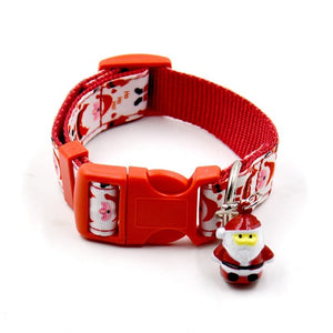 New Christmas pet traction rope plus collar Pet Supplies Pet Dog Collar Puppy Adjustable Design Collars - Kaulana Pets