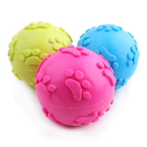 TPR Rubber Ball Pet Dog Toy Puppy Chew Squeaker Squeaky Sound Toys For Dogs Hollow Footprints Ball Dog Free Shipping - Kaulana Pets