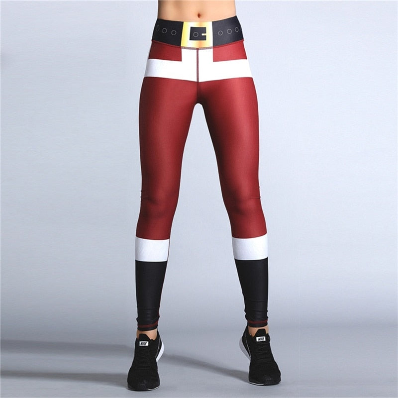 2019 PureGem Christmas Holiday Festive Special 3D Print Leggings