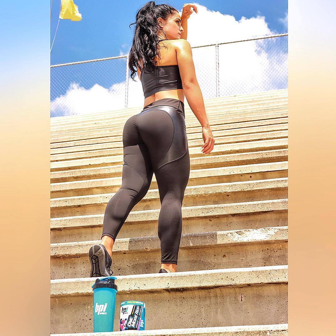 Heart Shaped Hip-lifting Contouring Push Up Workout Leggings