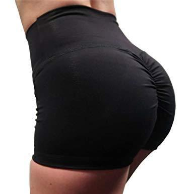 High Waist Brazilian Booty Scrunch Push Up Gym Shorts