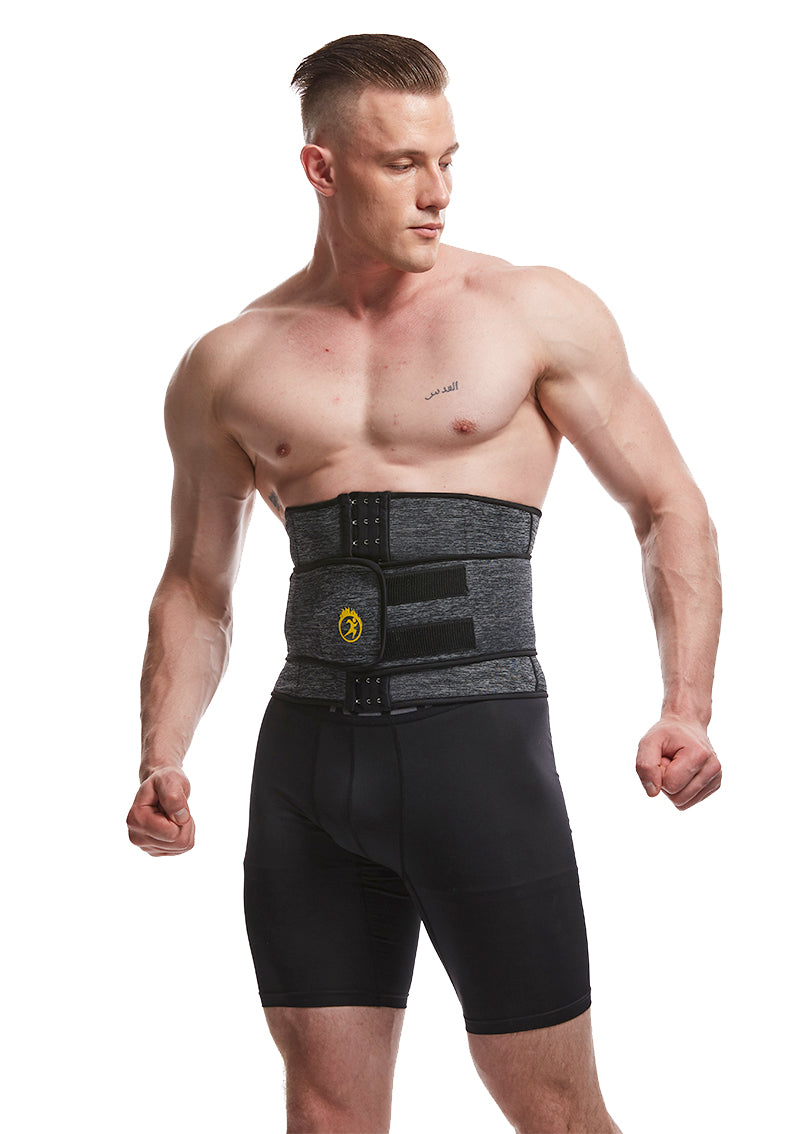 Men Neoprene Body Belt Sauna Slimming Waist Trainer