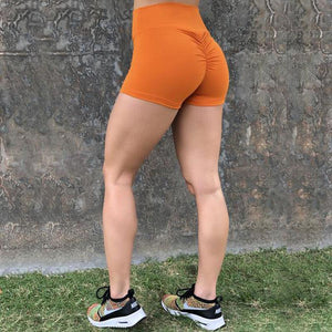 High Waist Booty Scrunch Push Up Gym Shorts