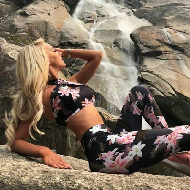 Blossom Mesh Top and Legging 2 Piece Set