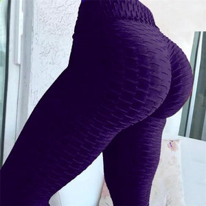 Puregem Anti-Cellulite Tummy Control Textured Push Up Leggings