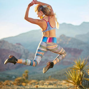 Retro Stripes Workout Leggings