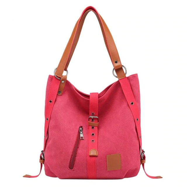 Women Canvas Casual Shoulder Tote Travel Handbag