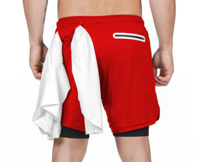 Men's 2 in 1 Ultra Workout Training Shorts