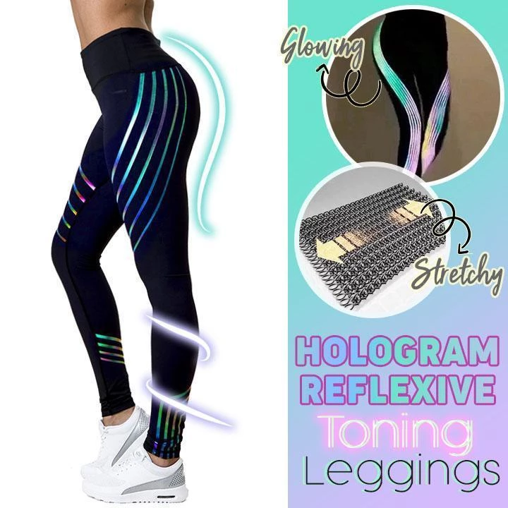 Hologram Reflexive Toning Rave Push Up Workout Leggings
