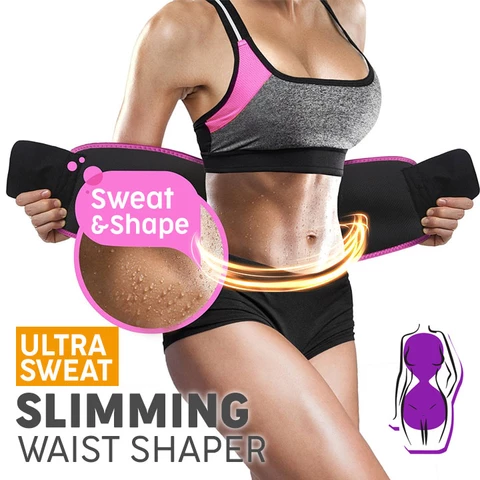 Ultra Sweat Slimming Waist Shaper Belt
