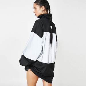 Puregemco Reflective Oversized Windbreaker Women Jacket