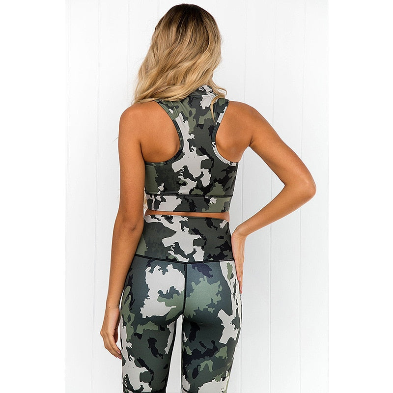 Full Neck Camo Fitness Tracksuit