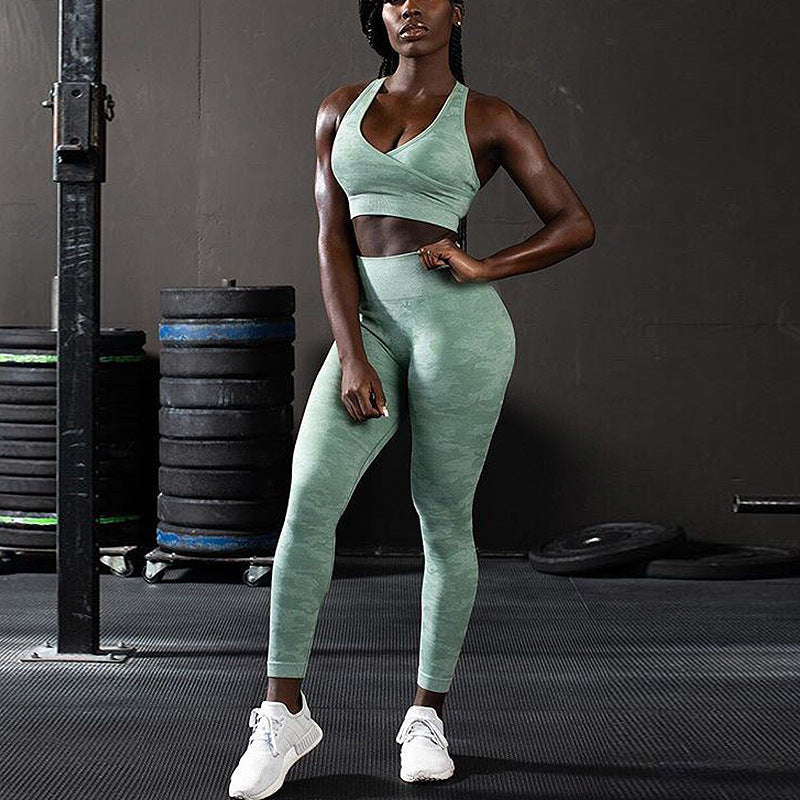 Knitted Seamless Fitness 2 Piece Set