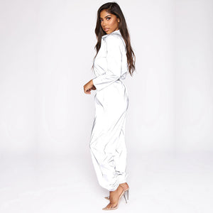 Ready To Glow Reflective Long Sleeve Jumpsuit