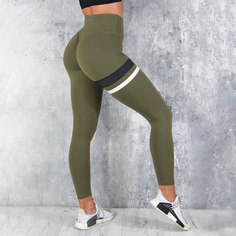 Turnout Striped Fitness Leggings
