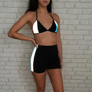You Glow Girl Reflective Bralette and Shorts Set