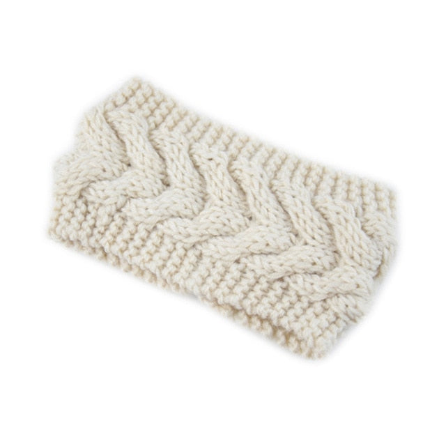 Women Winter Warmer Knitted Twisted Headband Turban