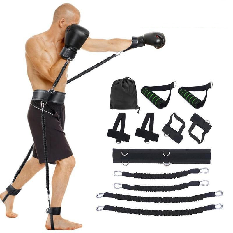 Sports Fitness Resistance Bands Boxing Set