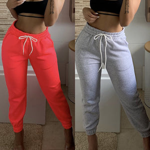 Women Active Sport Stretchy Drawstring Sweatpants