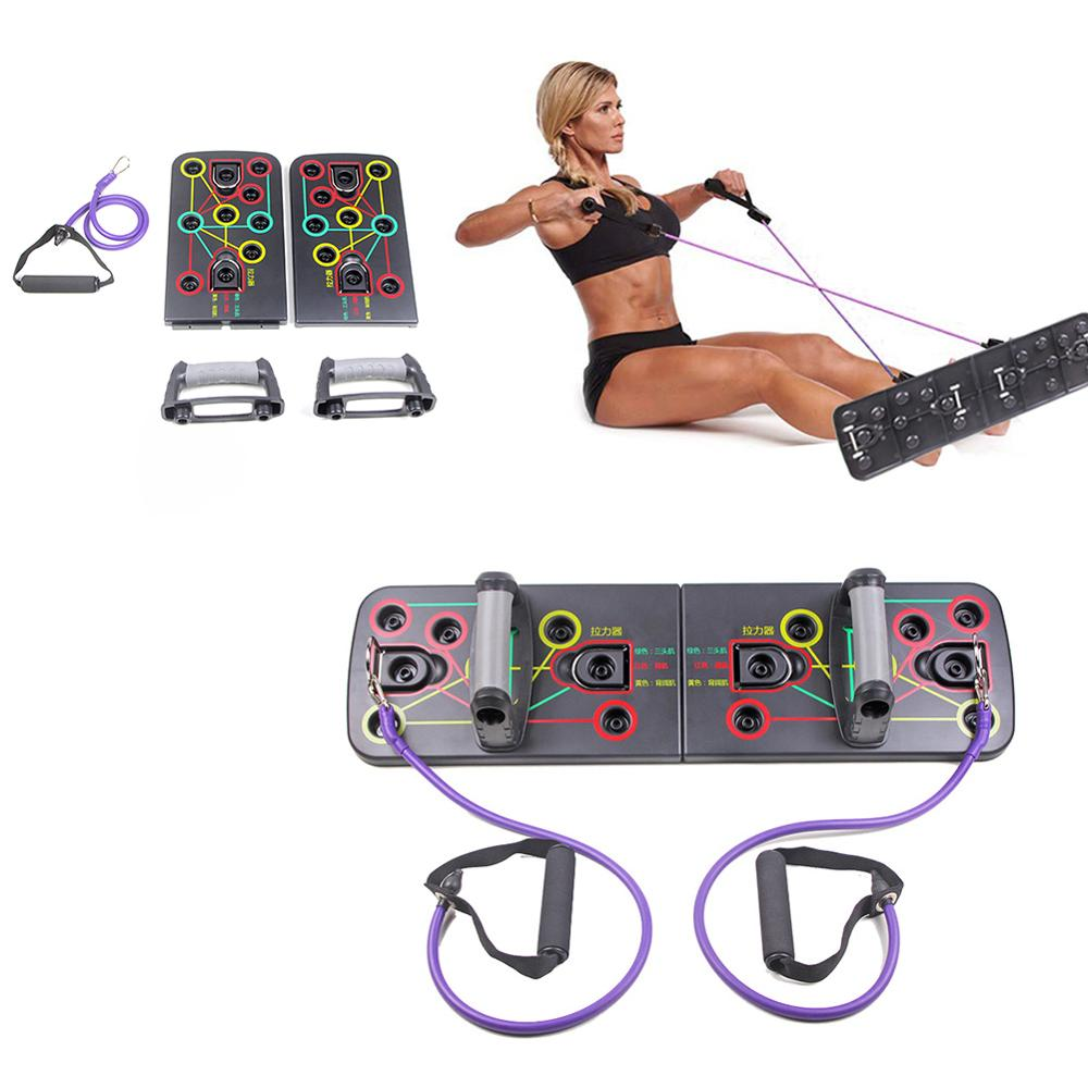 9 in 1 Body Building Push Up Rack Board