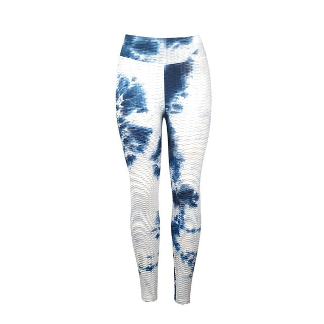 Women Anti-cellulite Tie Dye Printed Fitness Leggings