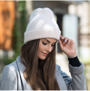 Women Winter Knitted Beanie Hat