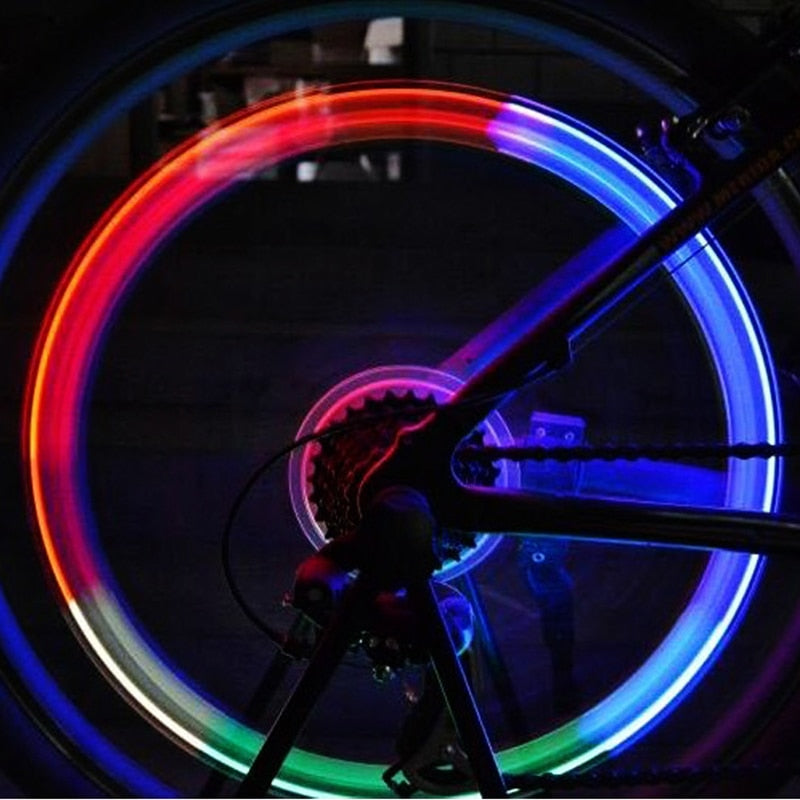 USB Rechargeable Bicycle Tire Valve Lights Bike Accessories