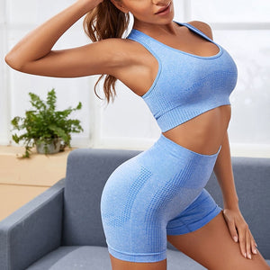 Women Fitness Seamless Sports Bra And Short