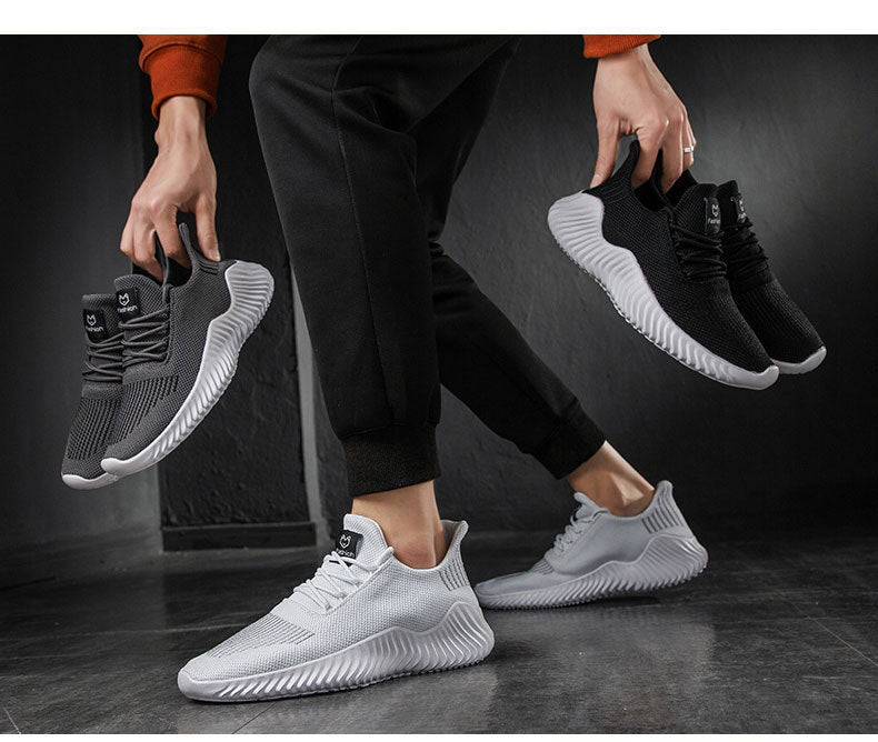 Men Mesh Breathable Lace-up Trendy Sneakers Shoes