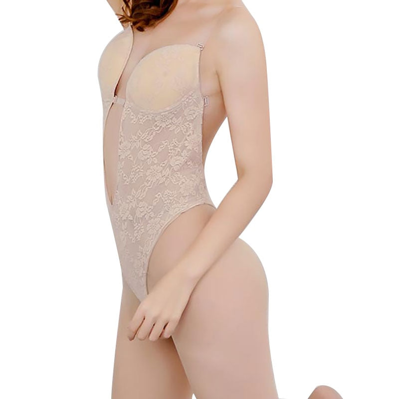 Woman Bodysuit Lace Backless Wedding Shaper Thong