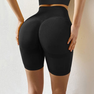 Women Fitness High Waist Knitted Booty Lifting Shorts